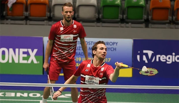 There's a lot to see Carsten Mogensen (back)/Mathias Boe play. (photo: Badminton Europe/Ben Phelan)