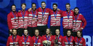 Denmark win the 2017 European Mixed Team Badminton Championships. (photo: BadmintonEurope)