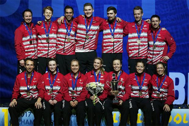 Denmark win the 2017 European Mixed Team Badminton Championships. (photo: BadmintonEurope)