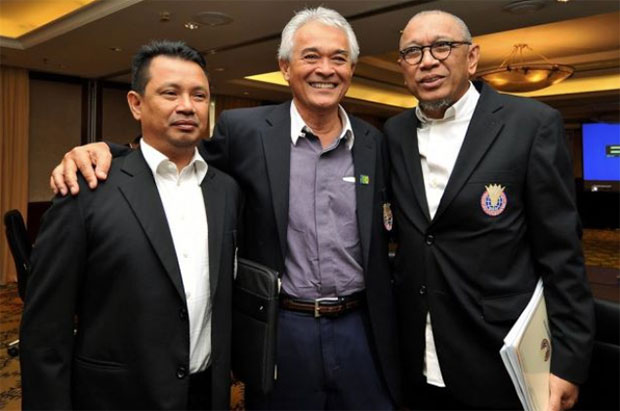 BAM's deputy president Mohamad Norza (left), current president Tan Sri Tengku Mahaleel Tengku Ariff (middle), acting president Tan Sri Mohd Al Amin Abdul Majid. (photo: The Star)