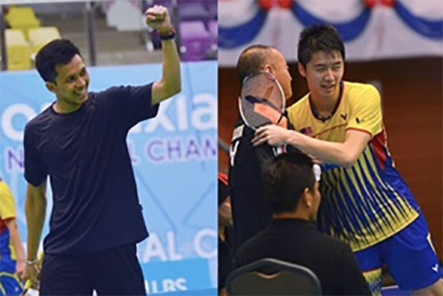 Misbun Ramdan (left) is set to play Lim Chi Wing in the Malaysian National Championships final on Saturday. (photo: Bernama)