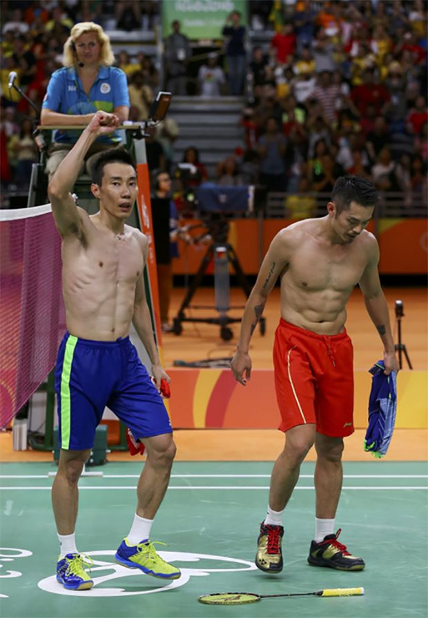"Lee Chong Wei and Lin Dan represent the ""Golden Age"" of badminton since mid 2000's. (photo: AP)"