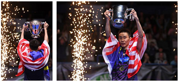 Congratulations to Lee Chong Wei for winning his fourth All England title. (photo: AFP)