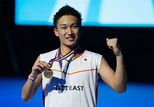 Kento Momota is a young and extremley bright badminton talent. (photo: AFP)