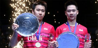 Kevin Sanjaya Sukamuljo and Marcus Fernaldi Gideon are the new World No. 1 men's pair. (photo: PBSI)