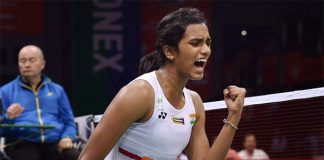 P.V. Sindhu celebrates winning a point against Korean player Sung Ji Hyun in 2017 India Open semi-finals. (photo:PTI)