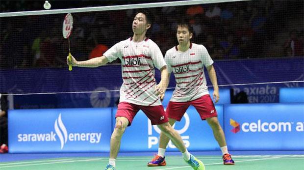 Kevin Sanjaya Sukamuljo/Marcus Fernaldi Gideon in brilliant form ahead of Malaysia Open final. (photo: AP)