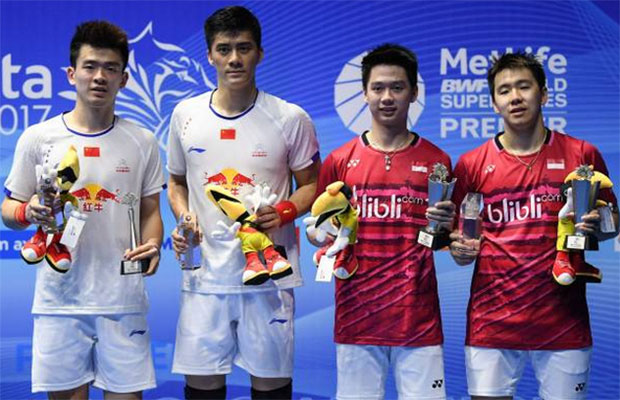 Marcus Fernaldi Gideon/Kevin Sanjaya Sukamuljo are the most exciting men's doubles pair in the world currently. (photo: AFP)
