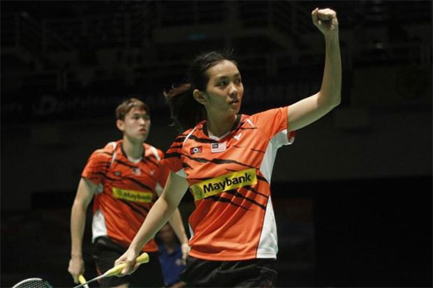 Tan Kian Meng/Lai Pei Jing are Malaysia's best hope in Singapore Open mixed doubles. (photo: AFP)