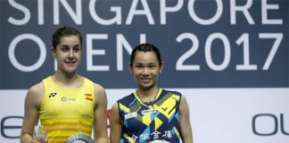 Are Tai Tzu-ying (R) & Carolina Marin the Lee Chong Wei & Lin Dan in women's singles? (photo: EEF)
