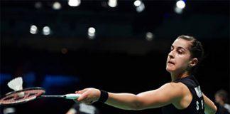 Carolina Marin wins the 2017 European Championships women's singles title. (photo: AFP)