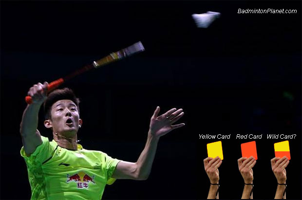 Chen Long + Yellow card, red card, and wild card?