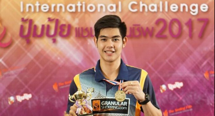 Congratulations to Pannawit Thongnuam for winning the 2017 Thailand International Challenge.