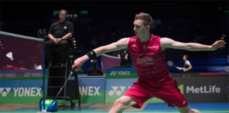 Viktor Axelsen has grown into the new badminton star for Denmark. (photo: AP)