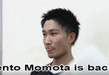 Welcome back Kento Momota!