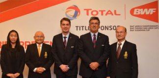 Gustavo Salazar (2nd from right) is second highest-ranking officer in BWF after President Poul-Erik Høyer (middle). (photo: BWF)