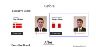 "The ""before"" and ""after"" picture of Gustavo Salazar Delgado's removal from the BWF Council/Executive Board."