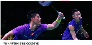 Fu Haifeng (left) arguably known for his powerful and lethal smash. (photo: BWF)
