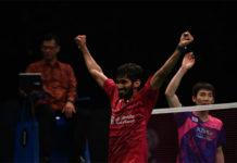 Kidambi Srikanth beats World No. 1 Son Wan Ho twice in two weeks. (photo: AFP)