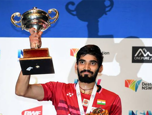 Kidambi Srikanth beats Chen Long to win Australia Open Super Series. (photo: AP)