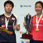 Nozomi Okuhara (right) captures her fourth Super Series title at 2017 Australian Open. (photo: AP)