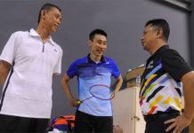 Misbun Sidek, Lee Chong Wei & BAM President Mohamad Norza Zakaria. (photo: Bernama)