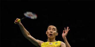 Lee Chong Wei 1264 points behind Son Wan Ho at the top of the BWF ranking. (photo: AP)