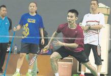 Lee Chong Wei has been training hard under new coach Misbun Sidek. (photo: Bernama)