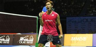 Kento Momota makes strong run at Canada Open. (photo: AP)