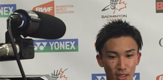 Kento Momota is one victory away for winning his first international title after bagging India Open on April 3, 2016. (photo: jsports_shuttle)
