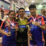 Chan Peng Soon/Cheah Yee See pose with their coach Pang Cheh Chang. (photo: Pang Cheh Chang's Facebook)