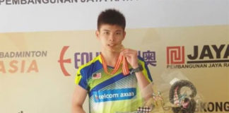 Congratulations to Leong Jun Hao for winning the 2017 Asian Junior Title. (Bernama)