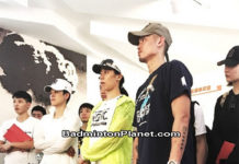 Lin Dan and the Chinese national badminton team visit China's nuclear weapons research center.