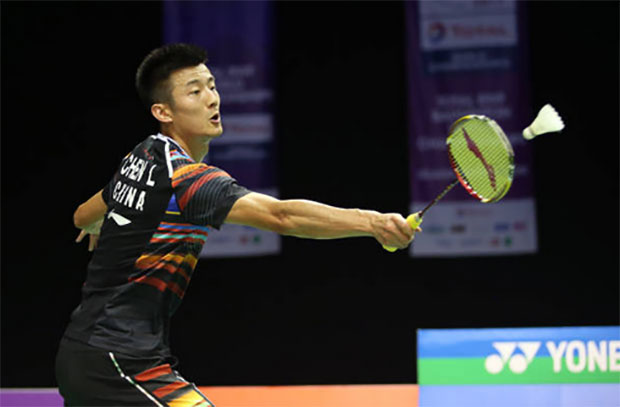 Chen Long stays steady at the 2017 World Championships. (photo: AP)