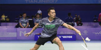Lin Dan and Chen Long set up final clash at China National Games men's team event.