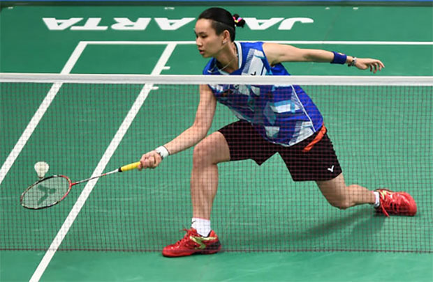 Tai Tzu Ying looks a little rusty after skipping the World Championships. (photo: AP)