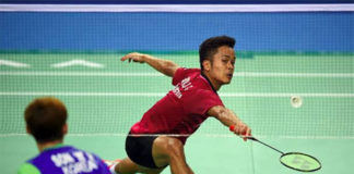 Anthony Sinisuka Ginting upsets World no. 1 Son Wan-Ho at Korea Open. (photo: AFP)