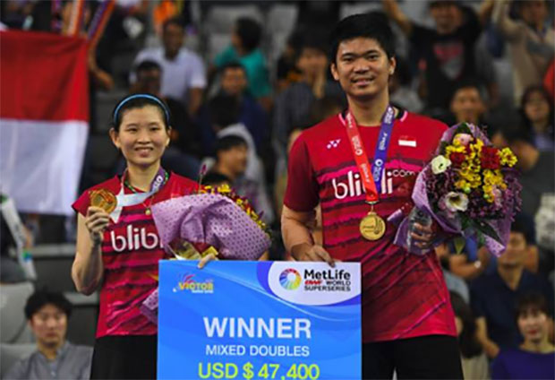 Praveen Jordan/Debby Susanto win their second Superseries title at the 2017 Korea Open. (photo: AP)