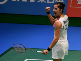 Carolina Marin to play Nozomi Okuhara in Japan Open semis. (photo: AP)