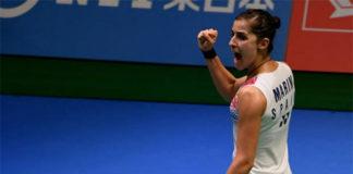 Carolina Marin to play Nozomi Okuhara in Japan Open semis. (photo: AP)