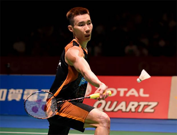 Lee Chong Wei stays positive despite Japan Open loss to Viktor Axelsen. (photo: AP)