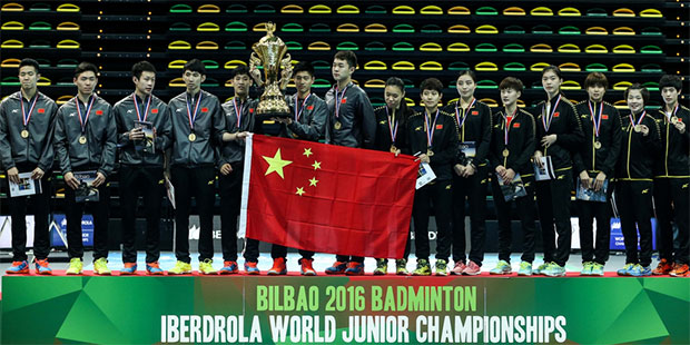 China wins 5 golds at the 2016 World Junior champions, with the exception of girls' doubles. (photo: BWF)