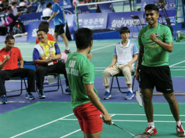 Vountus Indra Mawan (right) is excited to be back to BAM. (photo: Bernama)