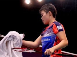 Goh Jin Wei stays calm, cool and collected at the 2017 World Junior Championships. (photo: AP)