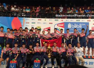 China beat Malaysia to retain 2017 BWF World Junior Mixed Team Championships crown.