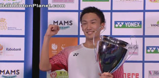 Kento Momota will be able to break into men's top 100 in the BWF world rankings next week.