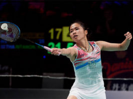 Ratchanok Intanon is one win away from taking the 2017 Denmark Open title. (photo: AP)