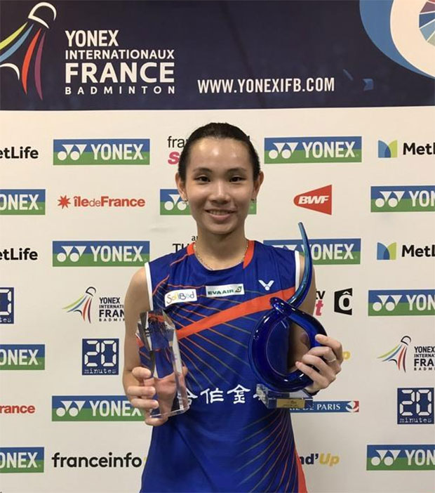 Congratulations to Tai Tzu Ying for winning the 2017 French Open. (photo: CNA)
