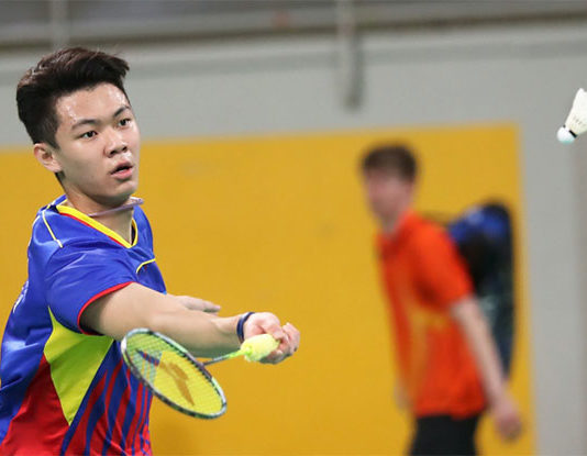 Lee Zii Jia shows he can take on high level player from China. (photo: AP)
