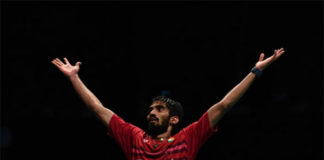 Kidambi Srikanth creates history by becoming the first Indian player to win four Super Series titles in a year. (photo: AP)